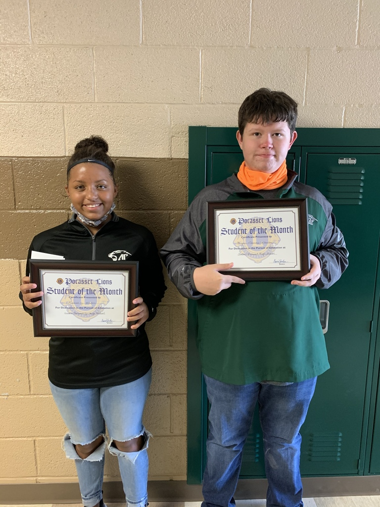 Sept students of the month Kenosha Slaton & Ryder Stanton