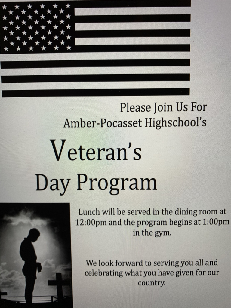The Veteran's lunch and program