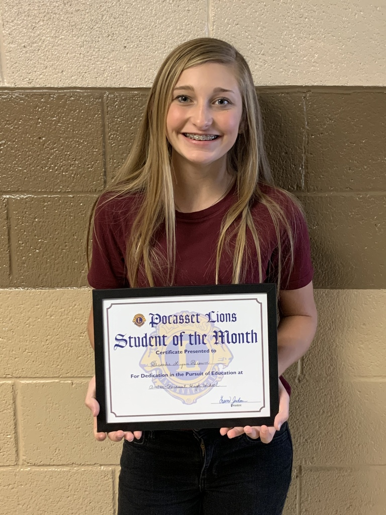 Student of the Month HS Brooke Brown