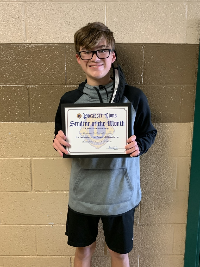 Brendan Romero Oct student of the month