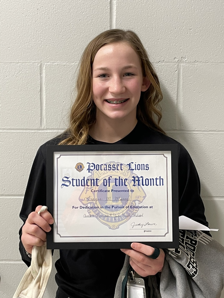 Teague Muncy JH Feb student of month